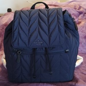 NWT Kate Spade Navy Blue Quilted Backpack